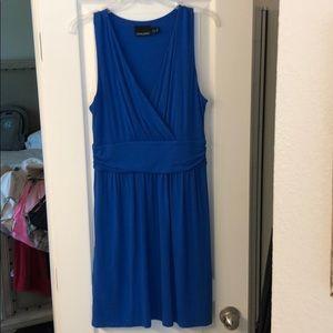 Royal blue stretchy midi dress